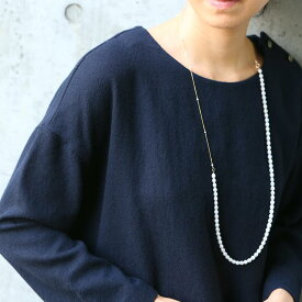 【10月8日より順次発送】misa/two way pearl necklace