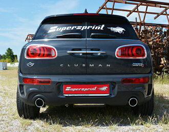 Getting out SuperSprint scarf 100mm black ○ two F54 MINI COOPER-S CLUBMAN FF' 15-192HP