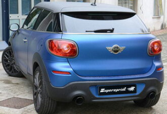Getting out SuperSprint scarf 100mm black ○ two R61 PACEMAN COOPER-S FF car '13 -