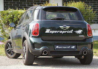 Getting out SuperSprint scarf 100mm ○ two R60 CROSSOVER JCW 218HP ALL4 4WD 12 -