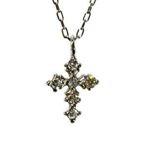 ダイヤモンドネックレス 0.05ct ジュエリー プラチナ Pt ネックレス クロス ネックレス 可愛い レディース ファッション 4月誕生石 送料無料