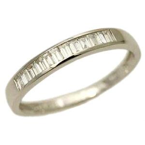 全品ポイント10倍 エタニティ リング ダイヤモンド リング バケット カット ダイヤモンド 0.3ct SIクラス H-Iカラー ダイヤ エタニティーリング プラチナ Pt ゴールド バゲット 18金 18K 重ねづけ
