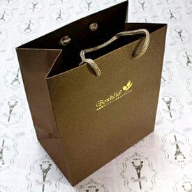 プレゼント用 ペーパーバッグ (ブラウン) 《紙バッグ》 【Bonheur】 【コンビニ受取対応商品】