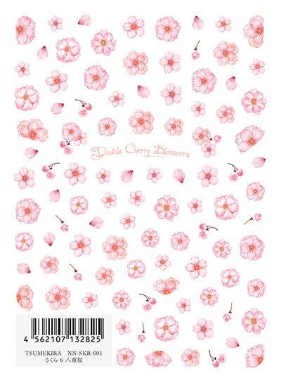 TSUMEKIRA ツメキラ さくら 6 八重桜 NN-SKR-601【ネイルシール フラワー サクラ さくら 桜 透け感 春 シアー 八重桜】