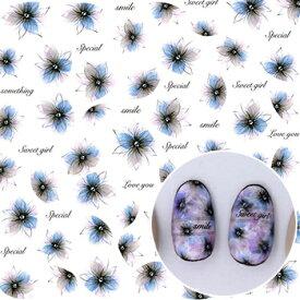 シールのおまけつき 即納 メール便送料無料 TSUMEKIRA ツメキラ Hanako プロデュース1 Classic blossom NN-HNK-101 ネイルシール 花 フラワー クラシック 透け感 ドライフラワー 質感 ライン