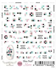 在庫一掃 最終値下げ メール便送料無料 写ネイル more ネイルシール MASPX-003 Pixel (Pastel) / ピクセル(パステル) モア モザイク ピクセル パステル デジタル