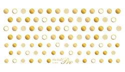 Sha-Nail写ネイルPlusプラスSD-PGShiningDotsGold/シャイニングドットゴールド【ネイルネイルアート用品ネイルシールデコネイルシール簡単貼るだけ写ネイルPlus写ネイルドット柄ゴールド金水玉柄】