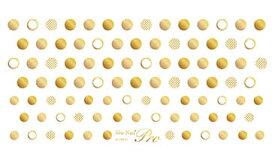 ◎写ネイル Plus プラス ネイルシール SD-PG Shining Dots Gold / シャイニングドット ゴールド 【簡単 貼るだけ ネイルシール ドット柄 ゴールド 金 水玉柄】