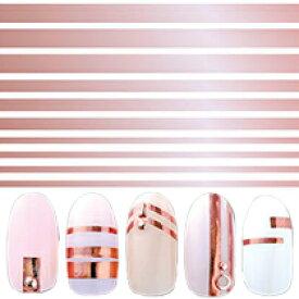 シールのおまけつき ◎写ネイル Plus プラス ネイルシール BL-PPG Bold Lines Pink gold【簡単 貼るだけ ネイルシール ボールド ライン ピンクゴールド 金 輝き 繊細】