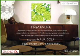 ファブリックパネル ファブリックボード marimekko マリメッコ Primavera(GR)プリマヴェラ[SIZE:W60cm×H60cm]日本未発売!数量限定入荷しました。