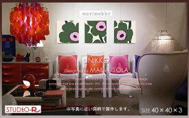 ファブリックパネル ファブリックボード marimekko マリメッコ UNIKKO(GKH)[SIZE:W40×H40cm×3枚set]3サイズ選べます 北欧 ファブリック