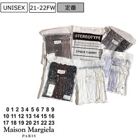 【定価42,900円(税込)】【3PAC】Maison Margiela メゾンマルジェラ 素肌にサラリと羽織れる優しい着心地!オーガニックコットン クルーネックTシャツ3枚パックセット 無地T 半袖 S50GC0608 S50GC0552 50GC0608N 50GC0552 メンズ 3パック 3枚セット ユニセックス