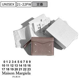 【定価53,900円(税込)】Maison Margiela メゾン マルジェラ 上品なカーフレザーが大人の品格を演出 ブランドアイコンステッチ入り5AC 3つ折りウォレット財布 エンベロープ マルタンマルジェラ S56UI0136 T4315 Mauve モーヴ イタリア製 ユニセックス