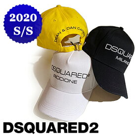【定価20,900円(税込)】DSQUARED2 ディースクエアード 創世記のブランド旧ロゴが大人の遊び心を擽る!上品でラグジュアリーな大人のスタイルを演出するブランドロゴ入りベースボールキャップ 帽子 ブラック ホワイト イエロー S82BC0267 S82BC0269 S82BC0270 男女兼用