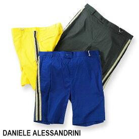 【定価31,900円(税込)】DANIELE ALESSANDRINI ダニエレアレッサンドリーニ ラグジュアリーなのにリラックス!ストレッチで履き心地抜群のサイドライン入りクラシックショーツ コットン ハーフパンツ 短パン 迷彩 24072001R 44 46 48 50 52 54 56 メンズ
