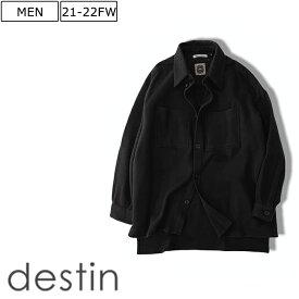 【定価60.500円(税込)】destin デスティン リラクシーなオーバーフィット!上質素材が生み出す極上な着心地がクセになる1枚!カシミア混ウールシャツ シャツジャケット シャツアウター ブラック イタリア製 XS S M L XL XXL lemaumA21 メンズ