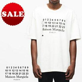 【定価42,900円(税込)】Maison Margiela メゾン マルジェラ ラグジュアリーな遊びの効いた1枚!厚手コットンジャージー製オーバーサイズのTインベーダーデザインカレンダーTシャツ! クルーネック マルタンマルジェラ S30GC0673 ホワイト メンズ