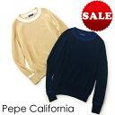 【定価31,900円(税込)】Pepe California ペペカリフォルニア トレンドたっぷりのチルデンニットを清涼感のある上質…