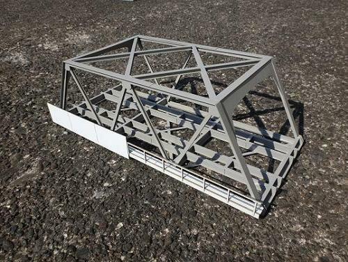 16番ゲージ用 複線現代型ワーレントラス橋(基本セット345mm)