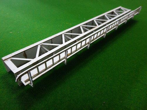 16番:β版 単線デッキガーダー橋(L262.5mm×H20mm/片面支材数17)橋側歩道付き