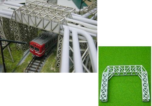 Nゲージ:β版 工場パイプラック 跨線橋型セット タイプA
