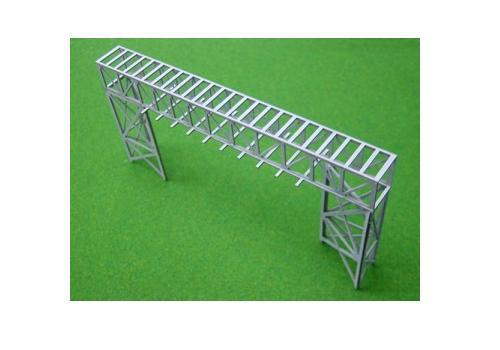 Nゲージ:β版 工場パイプラック 跨線橋型セット タイプC