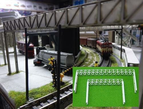 Nゲージ:β版 工場パイプラック 跨線橋型セット タイプE