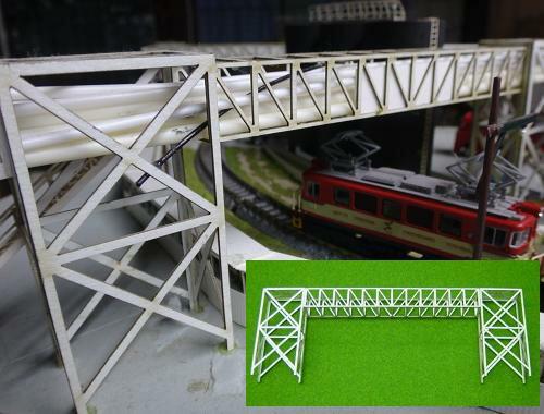 Nゲージ:β版 工場パイプラック 跨線橋型セット タイプD