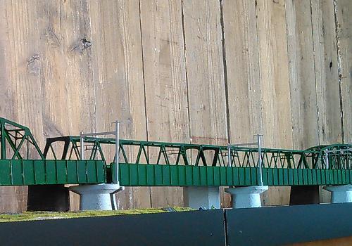 Nゲージ:β版 単線ワーレントラス橋(200ft級:434mm)