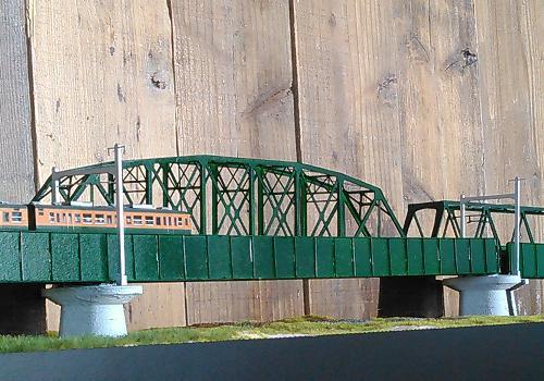 Nゲージ:β版 単線中路ばん桁ガーダー橋(延長セット:+217mm)