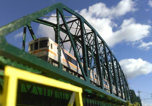 Nゲージ:β版 単線曲弦トラス橋(250ft級:578mm)