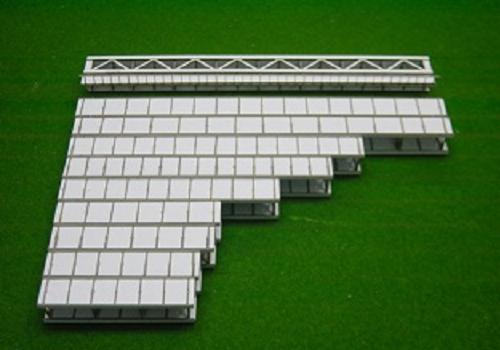 Nゲージ:β版 単線デッキガーダー橋(99mm/片面支材数11)