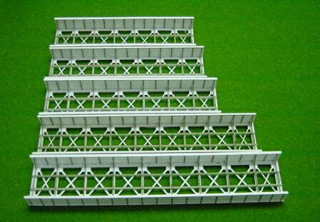 Nゲージ:β版 単線スルーガーダー橋(109.5mm/片面支材数15)