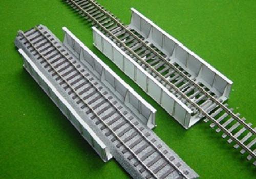 16番:β版 単線スルーガーダー橋(94mm/片面支材数5)