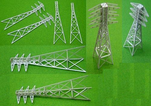 Zゲージ:β版 工場送電鉄塔(高さ80mm)