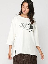 [Rakuten Fashion]【SALE/50%OFF】MMプリントTシャツ studio CLIP スタディオクリップ カットソー Tシャツ ホワイト【RBA_E】