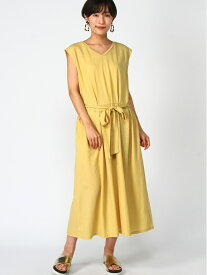 [Rakuten Fashion]【SALE/30%OFF】ウエストタックOP studio CLIP スタディオクリップ ワンピース シャツワンピース イエロー グレー ブラウン【RBA_E】
