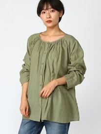 [Rakuten Fashion]【SALE/30%OFF】L-DRYタッチギャザーBL studio CLIP スタディオクリップ シャツ/ブラウス 長袖シャツ カーキ パープル ベージュ【RBA_E】
