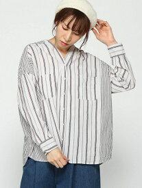 [Rakuten Fashion]【SALE/70%OFF】STキリカエワイドVNPO studio CLIP スタディオクリップ シャツ/ブラウス 長袖シャツ ホワイト グレー ベージュ【RBA_E】