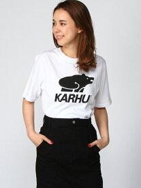 [Rakuten Fashion]KARHUベーシックロゴT studio CLIP スタディオクリップ カットソー Tシャツ ホワイト レッド