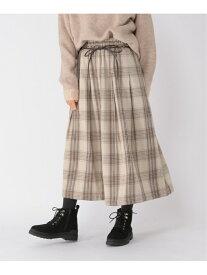 [Rakuten Fashion]CチェックガラSK studio CLIP スタディオクリップ スカート スカートその他 ベージュ グレー ブラウン【送料無料】