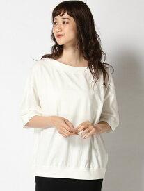 [Rakuten Fashion]L-ボートNリブHSPO studio CLIP スタディオクリップ カットソー Tシャツ ホワイト ブラック ベージュ レッド