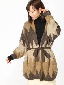 [Rakuten Fashion]【SALE/50%OFF】7GZIGZAGキモウKTOT studio CLIP スタディオクリップ ニット カーディガン ベージュ レッド【RBA_E】