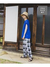 【SALE/10%OFF】【着が効くナツPANTS】夏の思い出スラウチパンツ[プラスサイズあり] studio CLIP スタディオクリップ パンツ/ジーンズ ワイド/バギーパンツ グレー ブラウン ベージュ【RBA_E】[Rakuten Fashion]