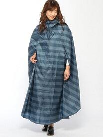 [Rakuten Fashion]ボーダー サイクルコート studio CLIP スタディオクリップ コート/ジャケット レインコート ブルー グリーン グレー【送料無料】