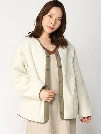 [Rakuten Fashion]リバーシブルボアBZ studio CLIP スタディオクリップ コート/ジャケット ブルゾン ホワイト ブラウン ブラック ベージュ【送料無料】