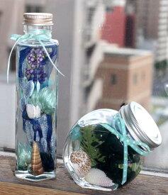 夏のハーバリューム 空 青 ブルー 貝殻 アレンジ フラワーギフト 花の贈り物 誕生日 出産祝 内祝い プレゼント日 お祝い 開店祝い