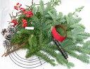 モミの木とヒムロスギのクリスマスリースキット 【クリスマスリース 手作りキット】【生花】【切花】【資材】