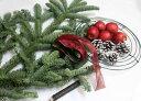 フレッシュモミの木と姫リンゴのクリスマスリースキット 【クリスマスリース 手作りキット】【生花】【切花)】【資材】