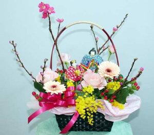 ひなまつり ひな祭り 雛祭 桃の花 誕生日 お祝い 開店祝い お中元 出産祝 内祝い プレゼント フラワーアレンジメント 生花 花の贈り物 アレンジ フラワーギフト